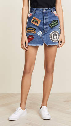 MADEWORN ROCK Rolling Stones Denim Skirt