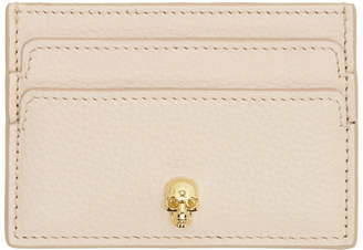 Alexander McQueen Pink and Gold Skull Card Holder