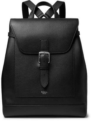 Mulberry Full-Grain Leather Backpack - Men - Black