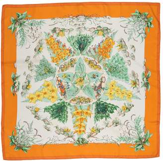 Hermes Carre 90 Orange Silk Silk handkerchief