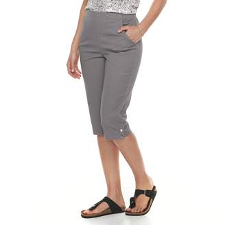 Croft & Barrow Women's Pull-on Snap Hem Skimmer Capris