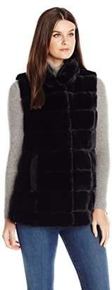 Jones New York Women's Reversible Faux Fur Vest $150 thestylecure.com