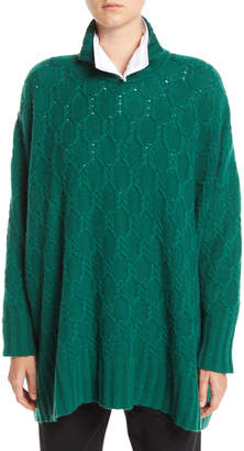 eskandar High-Neck Cable-Knit Cashmere Pullover Sweater