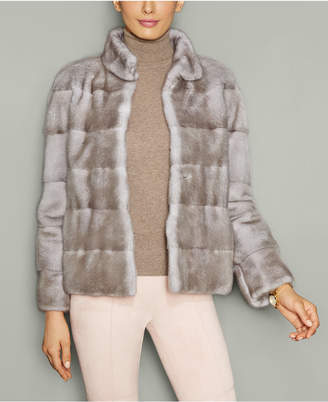 The Fur Vault Mink Fur Stand-Collar Jacket $4,995 thestylecure.com