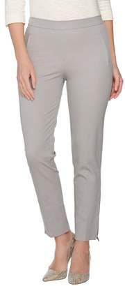 Isaac Mizrahi Live! Regular 24/7 Stretch Ankle Pants w/ Zipper Detail