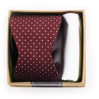 The Tie Bar Burgundy Bow Tie Box