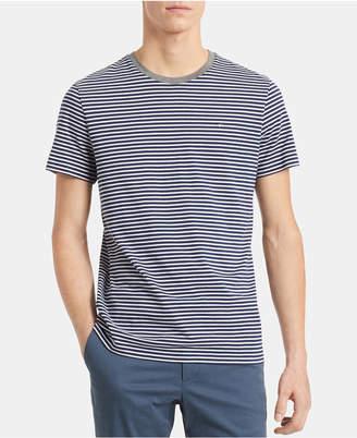 Calvin Klein Men Stripe Pima Cotton Ringer T-Shirt