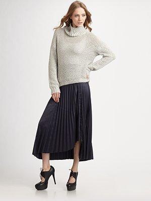 Knife-Pleated Skirt