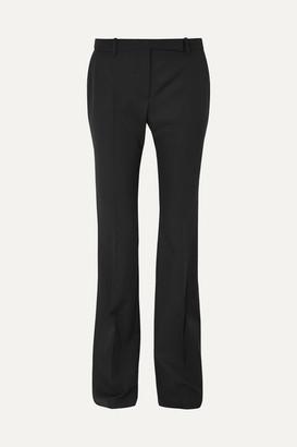 Alexander McQueen Grain De Poudre Wool Flared Pants - Black