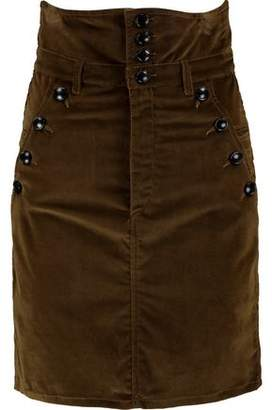 Isabel Marant Cotton-Blend Corduroy Mini Skirt