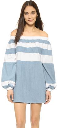 MLM LABEL Afar Off Shoulder Mini Dress $175 thestylecure.com