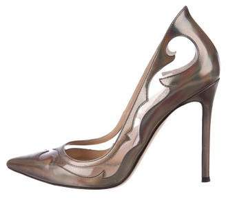 Gianvito Rossi Iridescent Pointed-Toe Pumps