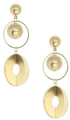 Ettika Gold Sphere Drop Earrings