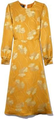 Rochas Floral A-Line Dress in Medium Orange