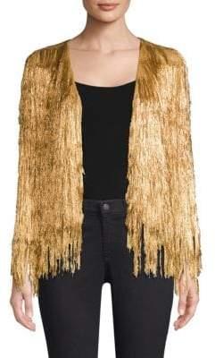 Rachel Zoe Isla Metallic Knit Jacket