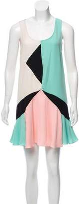 Marc by Marc Jacobs Sleeveless Color-block Mini Dress