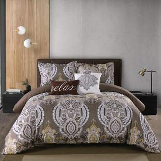 California Design Den Ancona 5 Piece Comforter Set Taupe Full/Queen