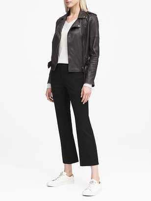 Banana Republic Ponte Crop Flare Pull-On Pant