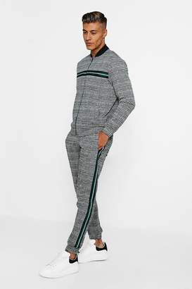 boohoo Checked Taped Detail Tracksuit