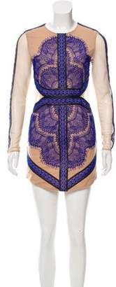 Three floor Lace Mini Dress