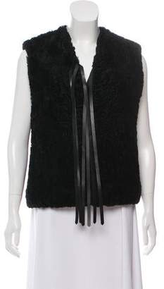 Saint Laurent Fur Leather Lined Vest