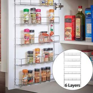 mtqsun 3/6 Tier Kitchen Wall Mounted Storage Rack Hanging Organizer Home Spice Can Shelving Holder