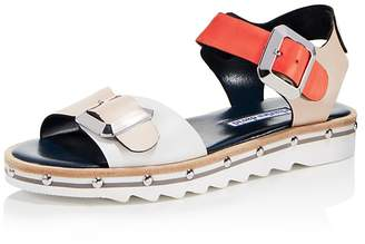 Charles David Women's Spy Leather Ankle Strap Sandals