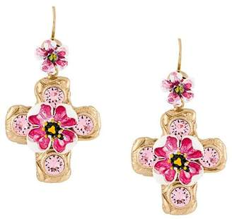 Dolce & Gabbana embellished cross earrings