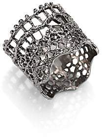 Aurelie Bidermann Women's Vintage Lace Ring/Silvertone