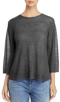 Eileen Fisher Petites Semi-Sheer Knit Top