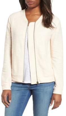 Caslon R) Knit Bomber Jacket (Regular & Petite)