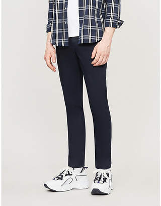 Sandro Slim-fit straight stretch-cotton trousers