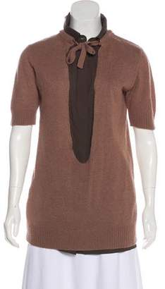 Marni Cashmere Short Sleeve Top