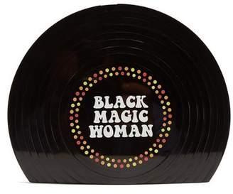 Sarah's Bag - Black Magic Woman Perspex Clutch - Womens - Black