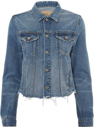 GRLFRND Cara Cropped Denim Jacket