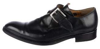 Barneys New York Barney's New York Leather Monk Strap Shoes