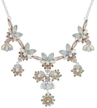 Mood - Crystal Floral Cluster Necklace