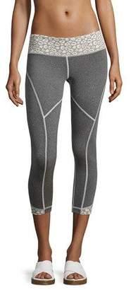 Vimmia Cheetah Rhythm Capri Leggings, Gray/White