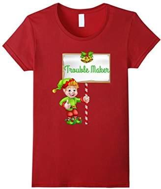 Funny Family Photo Christmas Troublr Maker T-Shirt