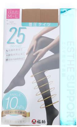 FUKUSKE (フクスケ) - 【福助】 フクスケ 福助 ESTHESUPPORT 25デニール 着圧 タイツ 2足組 (レディース 婦人)