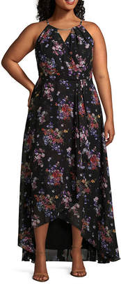 Melrose Sleeveless Floral Maxi Dress - Plus