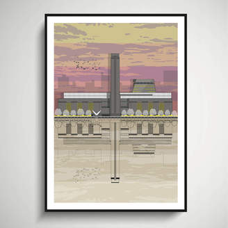 Linescapes Tate Modern Sunset Architectural Print