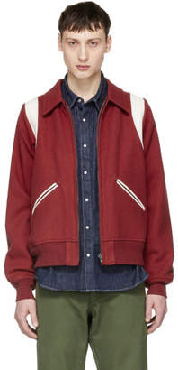 Visvim Reversible Red Vintage Troupe Bomber Jacket