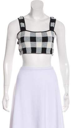 Theory Gingham Crop Top
