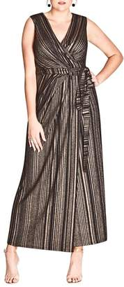 City Chic Cleo Wrap Maxi Dress