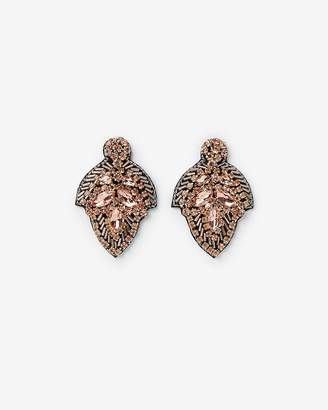 Express Multi Beaded Navette Drop Earrings