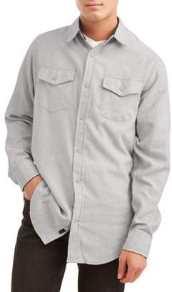 Burnside Men's Long Sleeve Solid Flannel, up to Size 5XL