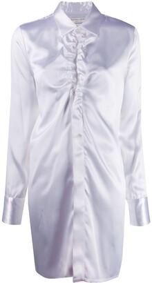 Bottega Veneta ruffled neckline long shirt