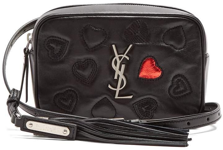 SAINT LAURENT Sac heart-embellished leather belt-bag