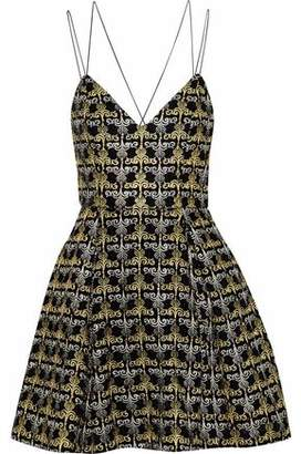 Alice + Olivia Marilla Embellished Velvet Mini Dress